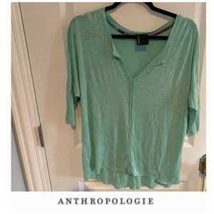 Anthropologie Dolan Pastel Green Top